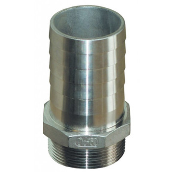 "Groco NPT Treads Stainless Steel Pipe to Hose Fitting, 3/4"", 1"", 1-1/4"", 1-1/2"""