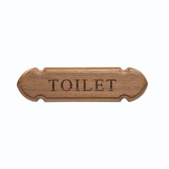 """Whitecap Teak """"Toilet"""" Name Plate"""