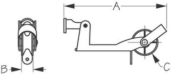 Sea Dog Anchor Lift & Lock Bow Roller
