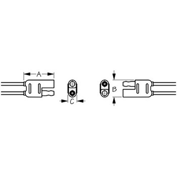 Sea Dog Pig-Tail Polarized Electrical Connector 2-Wire - Plug & Socket  426880-1