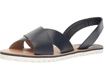 Sebago Women's Sidney Slingback Sandal (Black Leather)