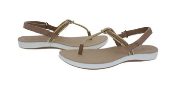 Sperry Women's Seabrook Elsie Linen Python Sandals