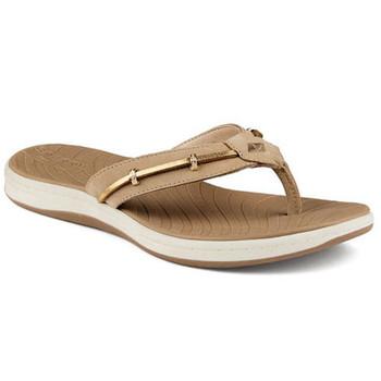 Sperry Women's Seabrook Wave Linen/Gold Sandals  STS95100