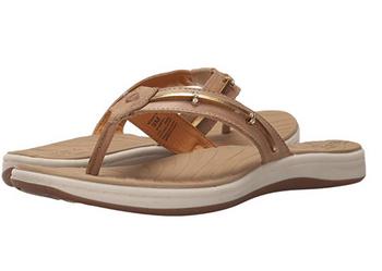 Sperry Women's Seabrook Wave Linen/Gold Sandals
