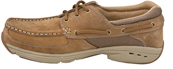 Rugged Shark Men's Hatteras 3 Eye Boat Shoe (Oak)