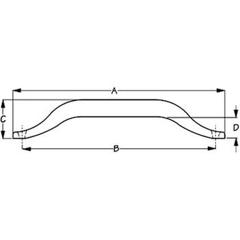 Sea Dog Surface Mount Hand Rail  254312 254318 254324