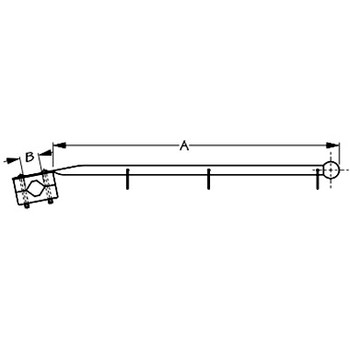 Sea Dog Rail Mount Flagpole Stainless    327120-1
