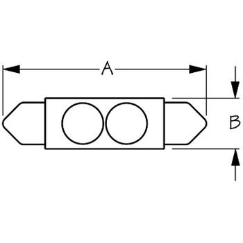 "Sea Dog 1-1/4"" X 3/8"" LED Festoon Bulb  442131-1"