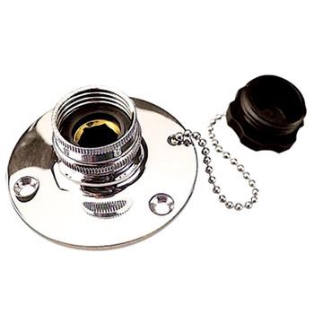 Sea Dog Chrome Brass Fresh Water Inlet  512110-1