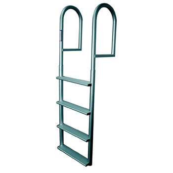 JIF Marine Stationary Aluminum Dock Ladder - Wide Steps DJV4-W DJV5-W