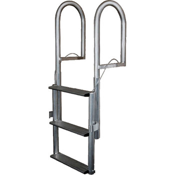 JIF Marine 5-Step Aluminum Retractable Dock Lift Ladder DJX5
