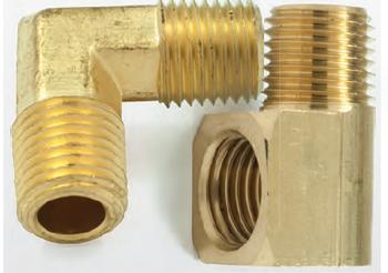 """Scepter 1/4"""" NPT Male/Female Brass Elbow"""