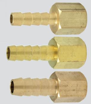 "Scepter 1/4"" NPT x 5/16"" Barb Brass Hose Barb (Female Thread)"
