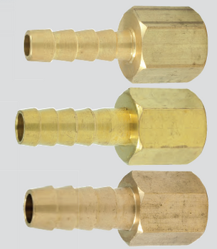 "Scepter 1/4"" NPT x 3/8"" Barb Brass Hose Barb (Female Thread)"