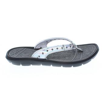 Body Glove Women's Fame Flip Flop Sandals (Black/Metallic)