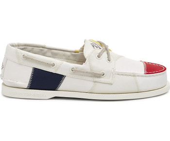 Sperry Men's Authentic Original BIONIC Boat Shoe (White/Multi)