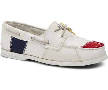 Sperry Women's Authentic Original BIONIC Boat Shoe (White/Multi)