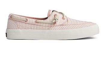 Sperry Women's Crest Boat Seersucker Sneaker (Coral)