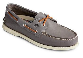 Sperry Men's Authentic Original Whisper Boat Shoe (Grey)