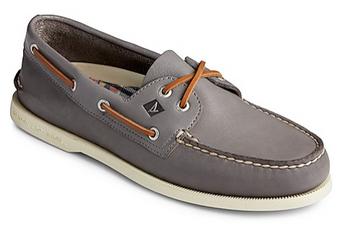 Sperry Men's Authentic Original Whisper Boat Shoe (Grey)