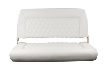 Double Wide Folding Seat White