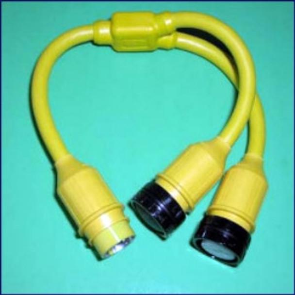 Marinco Y Adapter - 2-50 Amp 125 Volt Locking To 50 Amp Locking