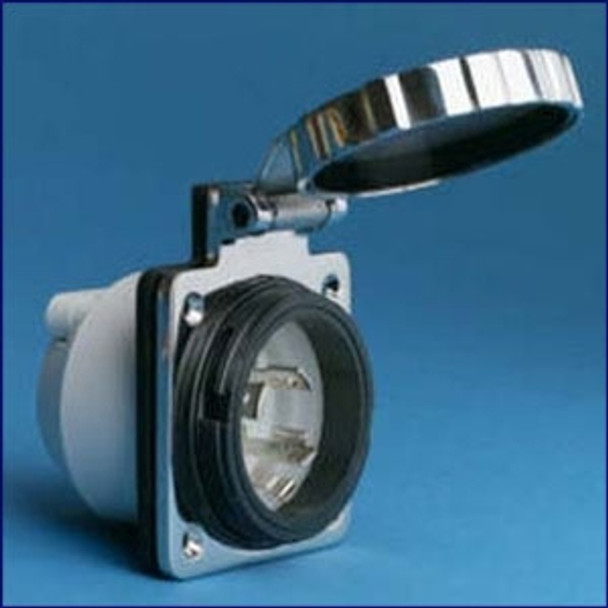 Marinco 30 Amp 125 Volt Power Inlet Stainless Steel