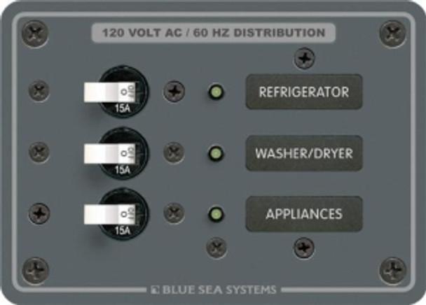 Blue Sea Systems 120V AC 3 Position  8058