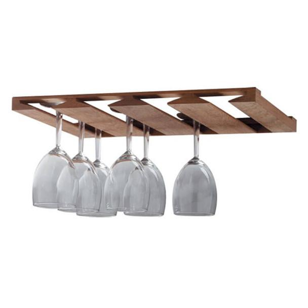 Whitecap Solid Teak Overhead Wine Glass Rack