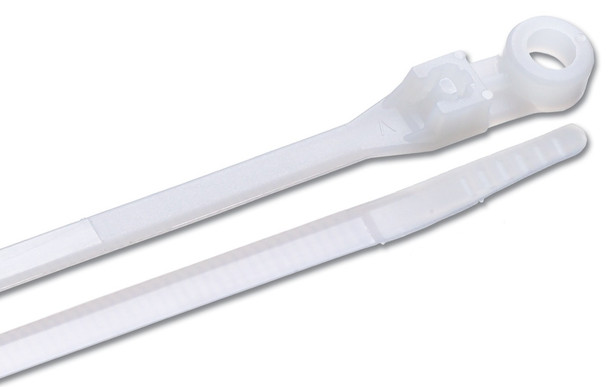 Ancor Natural 8 inch Nylon Mounting Cable Ties 50lb - 100 pkg
