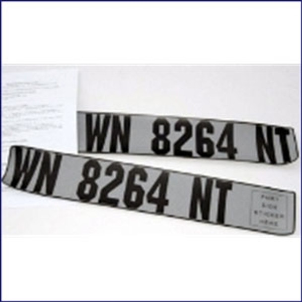Inflatable Boat Registration Number Plates