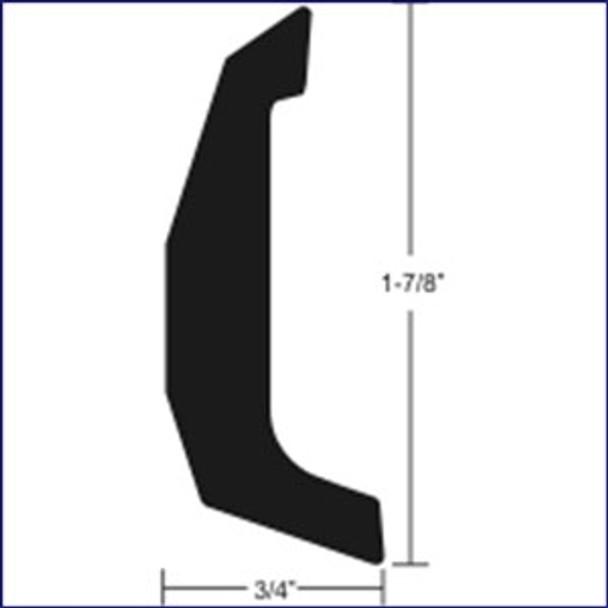 """Taco Marine A11-0515TAL Aluminum Rub Rail-- 1 7/8"""" x 20'"""