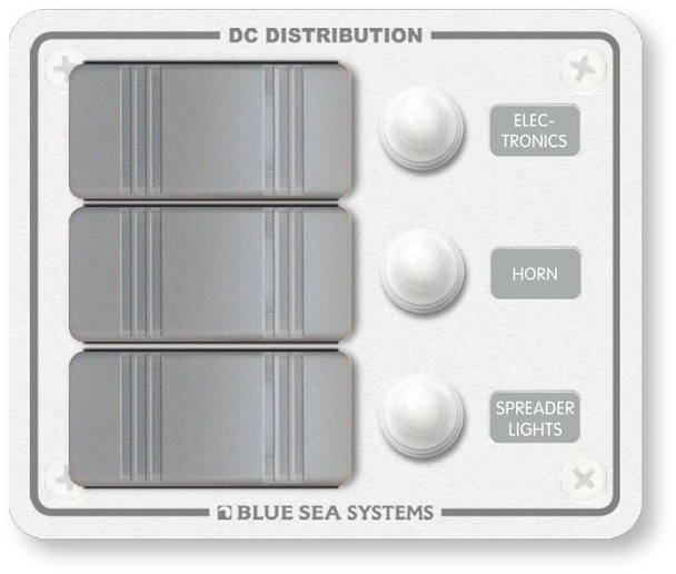 Blue Sea Systems White Water Resistant Circuit Breaker Panel
