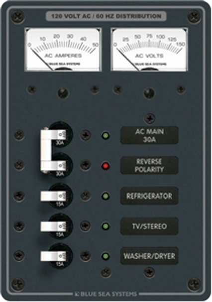 Blue Sea Systems 8409 AC Main + 3 Positions