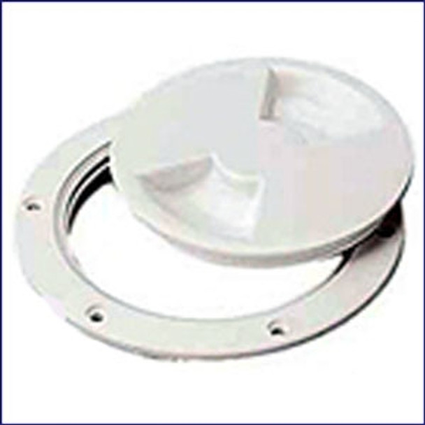 Sea Dog 337140-1 ABS White Standard Deck Plate 4 in.