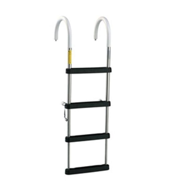 Garelick 12340 4 Step Telescoping Pontoon Boarding Ladder