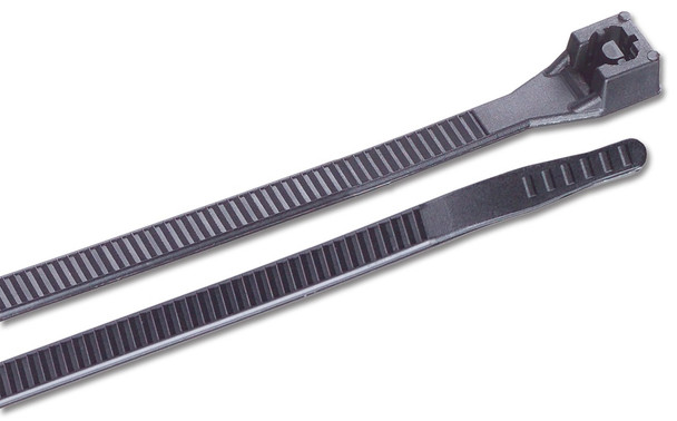 Ancor UV Black 6 inch Nylon Standard Cable Ties 30lb - 100 pack