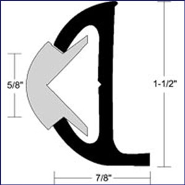 "Taco Marine Rigid Vinyl Rub Rail 20 ft. (1-1/2"") - White  V21-9501WHC20D"