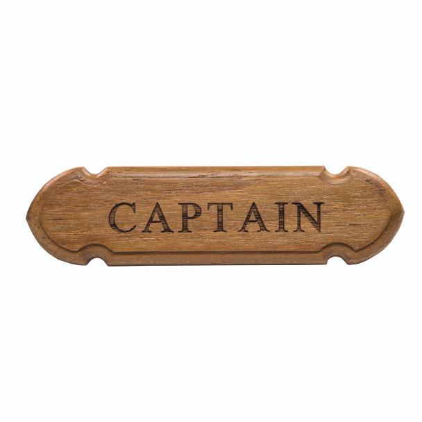 """Whitecap Teak """"Captain"""" Name Plate"""