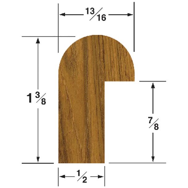 Whitecap Straight Length Teak Edge Molding 60835