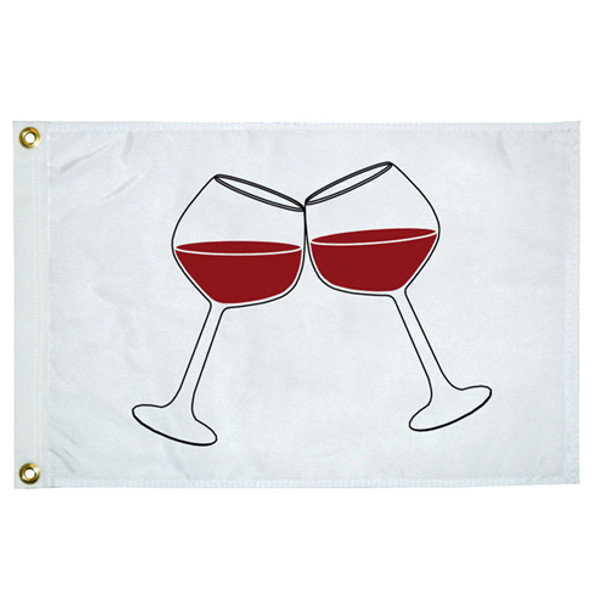 "Taylor Made 12"" x 18"" Novelty Flag -  Wine Glasses  5118"