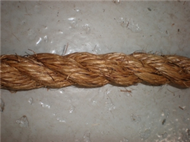 "Unicord 3 Strand Twisted Manila/Hemp 1/2""x600'"