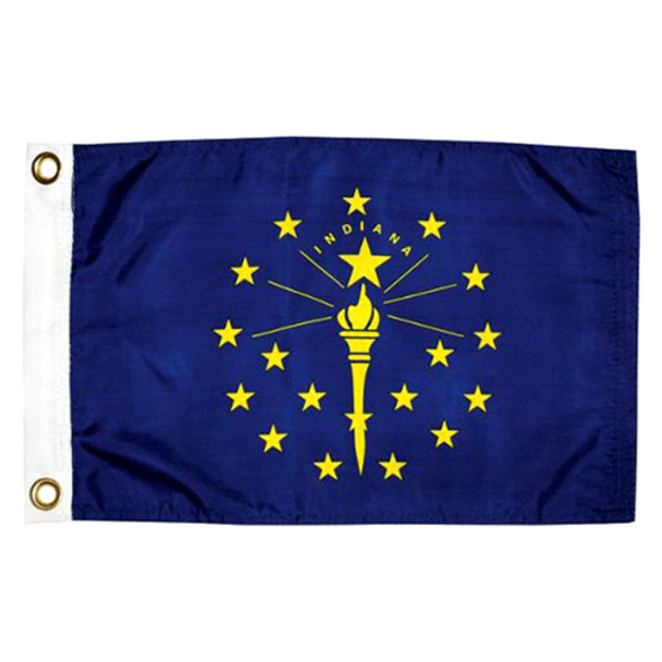 "Taylor Made 12"" x 18"" State of Indiana Flag  93100"