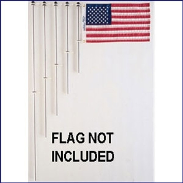 """Taylor Made 3/4"""" Aluminum 24"""" Flag Pole Charlevoix® Clips"""