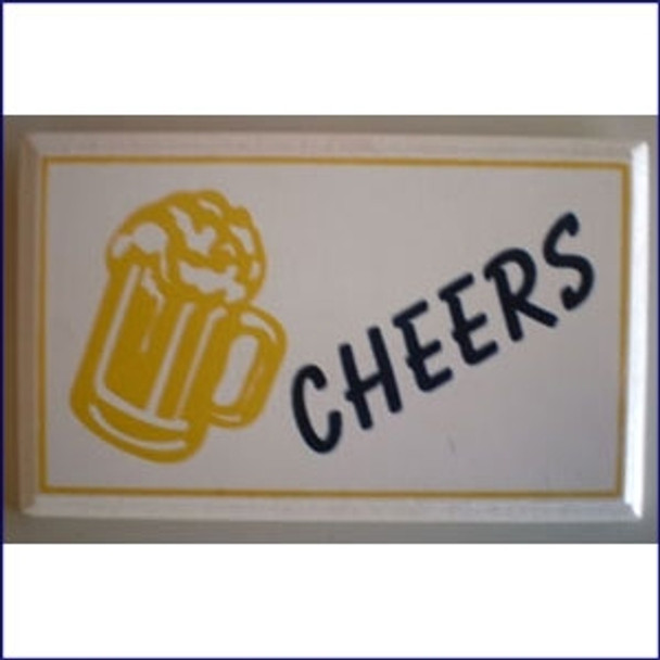 Cheers Plaque with Beer Mug 4 x 6 in