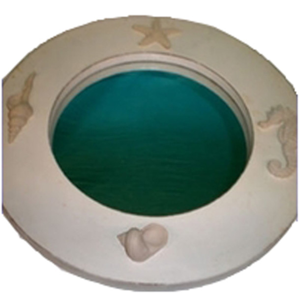Round Seashell Mirror
