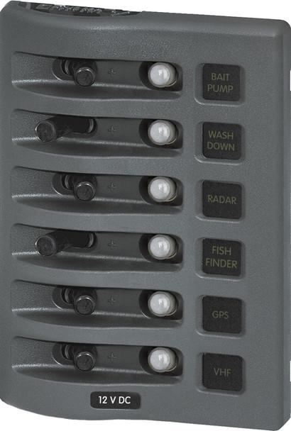 Blue Sea Systems Weather Deck Panel Gray Breaker 4376 4378