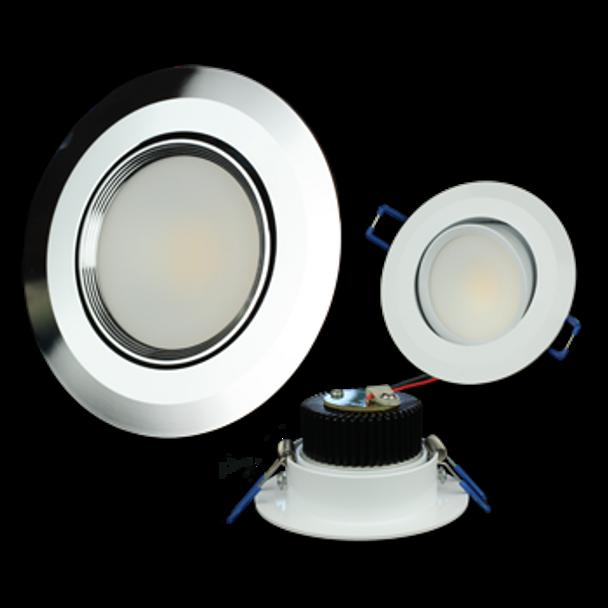 """Lunasea Recessed 3.5"""" 5W COB LED  LLB-56WW-01-WH LLB-56WW-01-SS"""