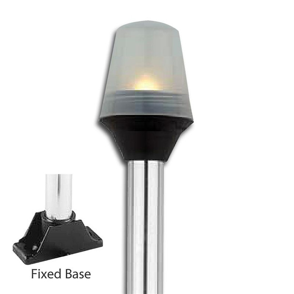 Attwood Fixed Base All-Round Pole Lights - Globe Style 5122-08-7