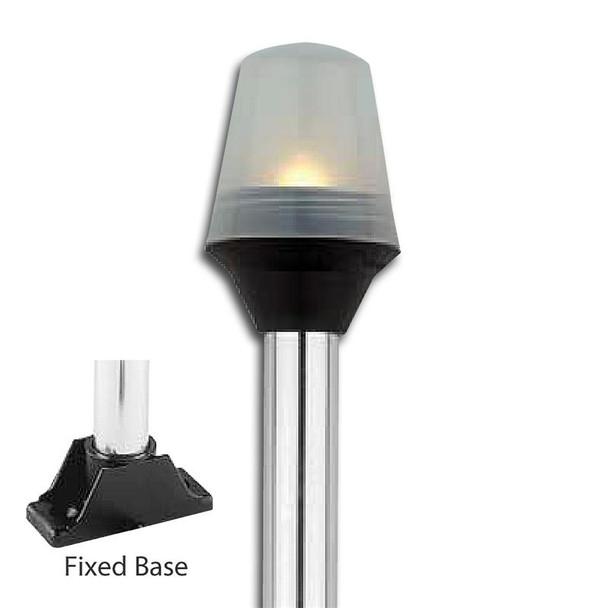 Attwood Fixed Base All-Round Pole Lights - Anti-Glare 5352-08-7